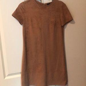 Light brown suede dress